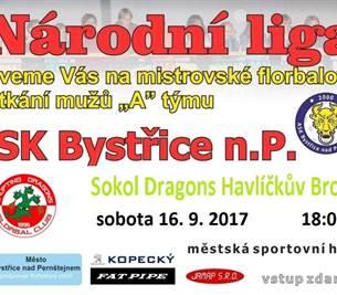 Národní liga mužů ve florbalu – 1. kolo Bystřice n. P.