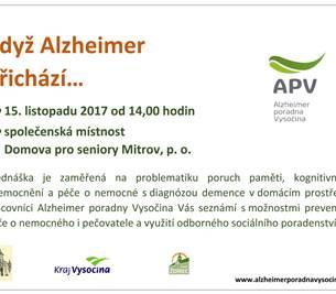 Alzheimer poradna Vysočina v Domově pro seniory Mitrov, p. o.