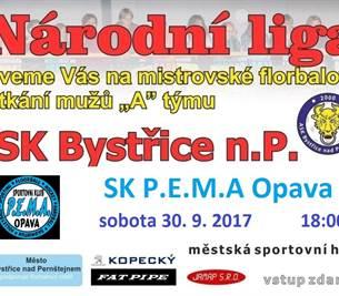 Národní liga mužů ve florbalu – 3. kolo Bystřice n. P.