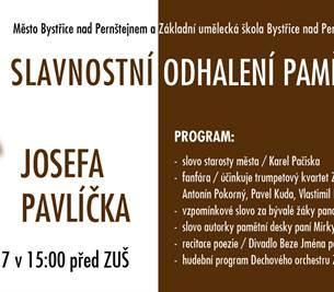 Pamětní deska Josefa Pavlíčka