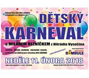 Dětský karneval s Milanem Řezníčkem