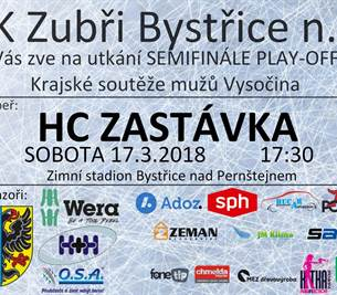 Zubři v semifinále Play-off Krajské soutěže mužů Vysočina
